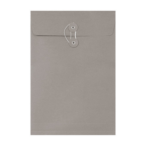 C4 Grey String & Washer Envelopes [Qty 100] 324 x 229mm