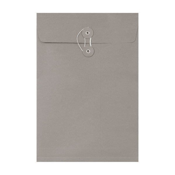 C4 Grey Gusset String & Washer Envelopes [Qty 100] 324 x 229 x 25mm