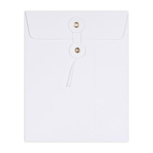 C5 White String & Washer Envelopes [Qty 100] 229 x 162mm