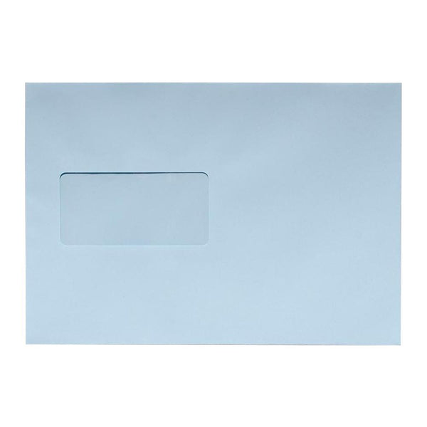 C5 Baby Blue Window Envelopes 100gsm Peel & Seal [Qty 500] 162 x 229mm (2131037782105)