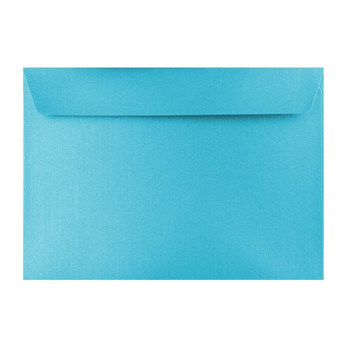 C4 Pearlescent Baby Blue 120gsm Peel & Seal Envelopes [Qty 250] 162 x 229mm (2131441385561)