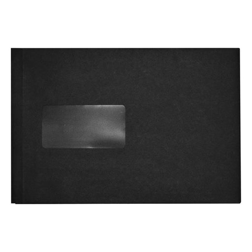 C5 Black 140gsm Gusset Window Peel & Seal Envelopes [Qty 125] 162 x 229mm (2131191431257)