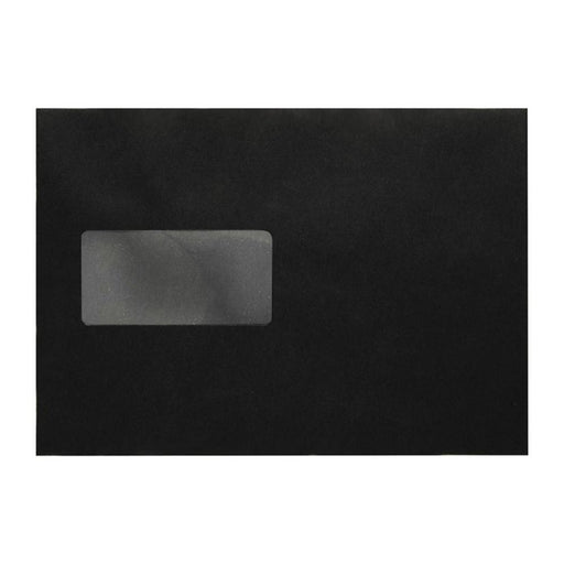 C5 Black Gusset Window 140gsm Peel & Seal Envelopes [Qty 125]