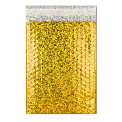 C5+ Gold Holographic Bubble Bags [Qty 100] 180 x 250mm