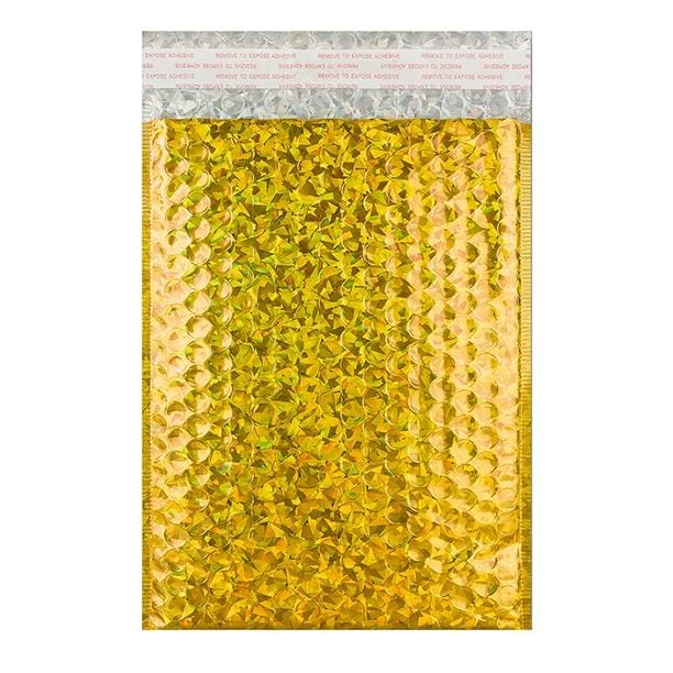 C4 Gold Holographic Bubble Bags [Qty 100] 230 x 324mm (2131385483353)