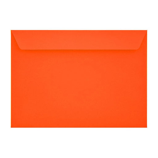 C4 Sunset Orange 120gsm Peel & Seal Envelopes [Qty 250] 229 x 324mm