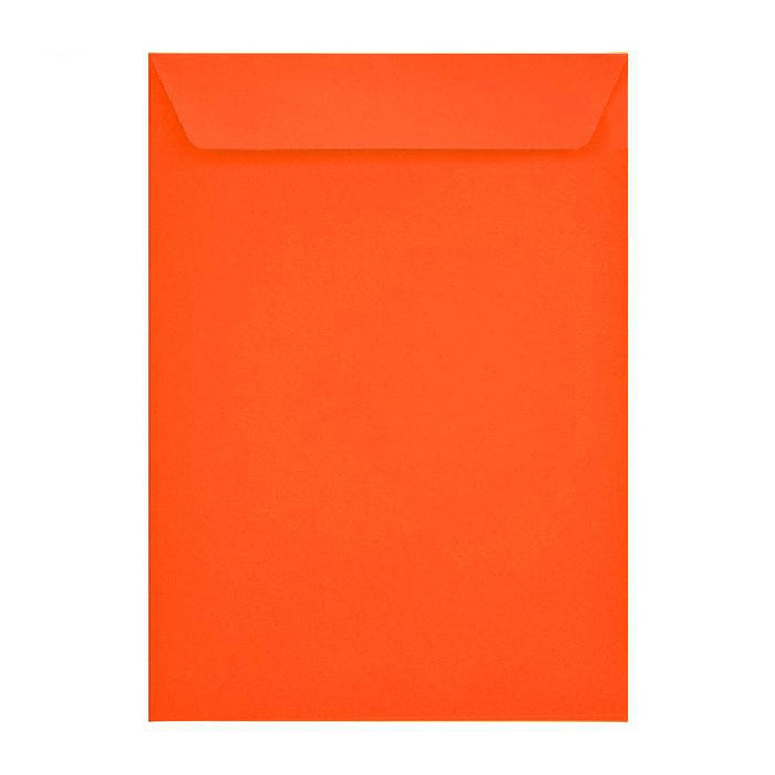 C4 Sunset Orange Pocket 120gsm Peel & Seal Envelopes [Qty 250] 229 x 324mm