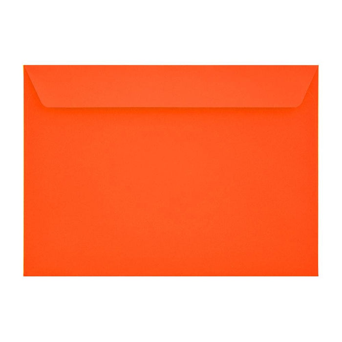 C5 Sunset Orange Window 120gsm Peel & Seal Envelopes [Qty 250] 162 x 229mm (2131037093977)