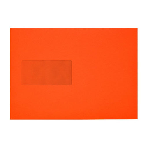C5 Sunset Orange Window 120gsm Peel & Seal Envelopes [Qty 250] 162 x 229mm