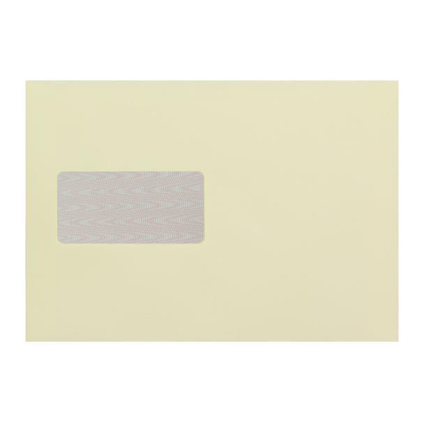 C5 Cream Window 120gsm Peel & Seal Envelopes (with Opaque) [Qty 500]