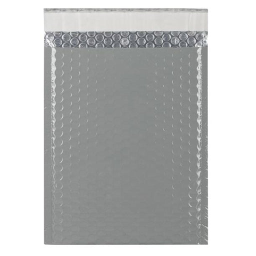 C5+ Grey Gloss Padded Bubble Envelopes [Qty 100] 180mm x 250mm