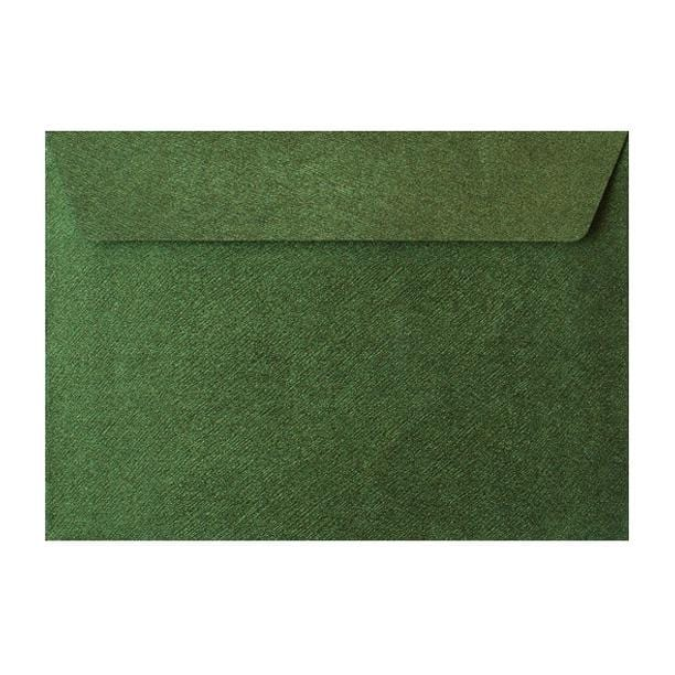 C5 Forest Green Textured 120gsm Peel & Seal Envelopes [Qty 250] 162 x 229mm (2131077005401)