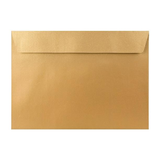 C5 Metallic Gold Finish 120gsm Peel & Seal Envelopes [Qty 200] 162 x 229mm (2131466715225)