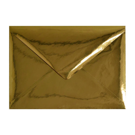 C5 Metallic Gold Mirror Finish 120gsm Gummed Envelopes [Qty 50] 162 x 229mm
