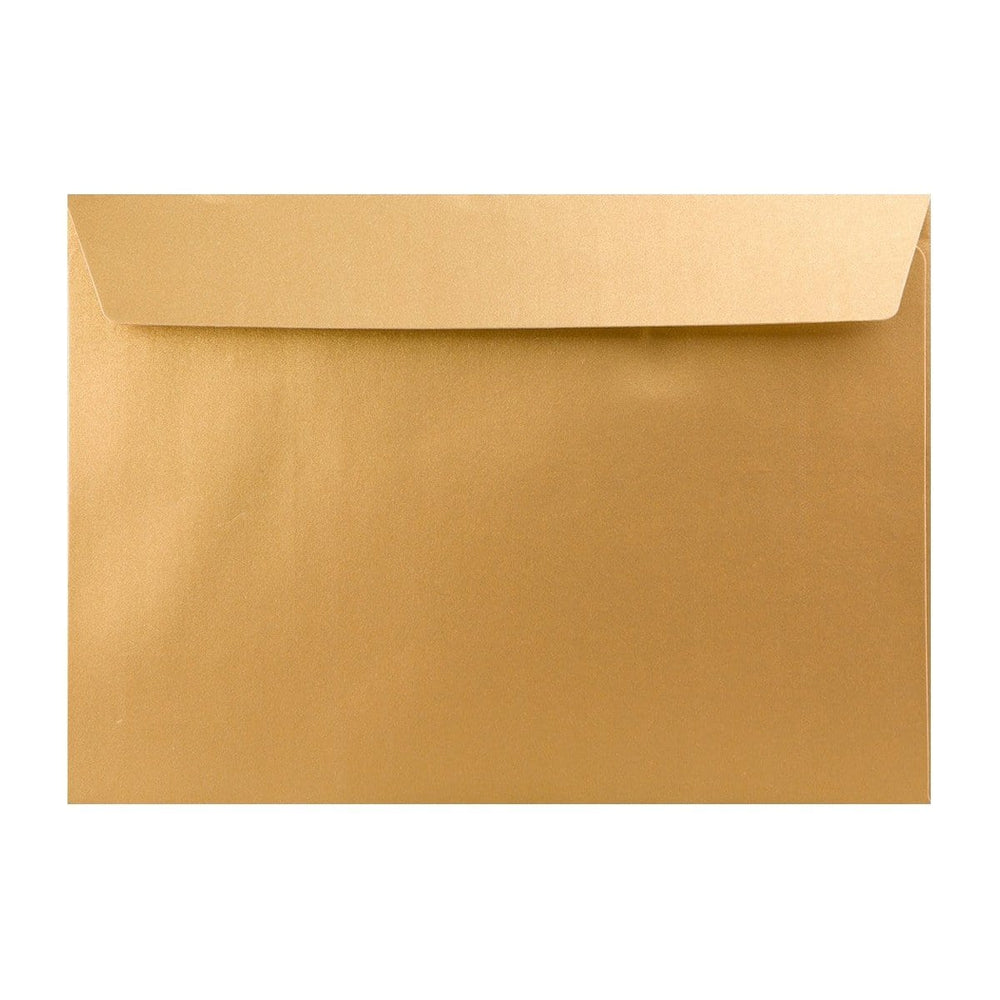 C4 Pearlescent Gold 120gsm Peel & Seal Envelopes [Qty 250] 324 x 229mm (2131299565657)