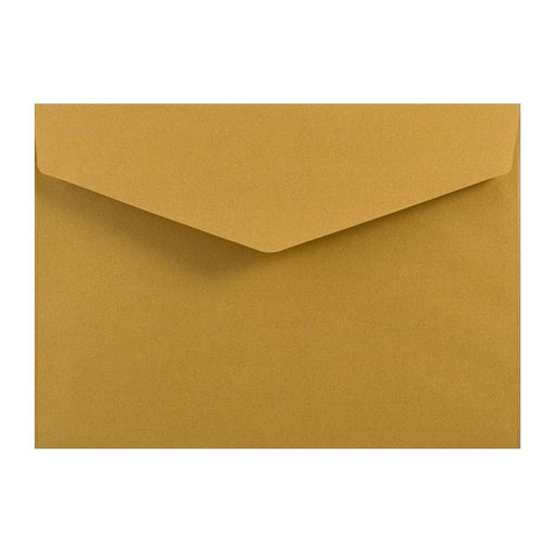 C5 Metallic Gold 120gsm V Flap Envelopes [Qty 250] 162mm x 229mm