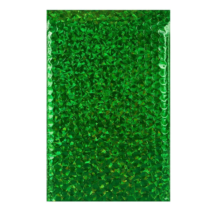 C5+ Green Holographic Bubble Bags [Qty 100] 180 x 250mm (2131385221209)
