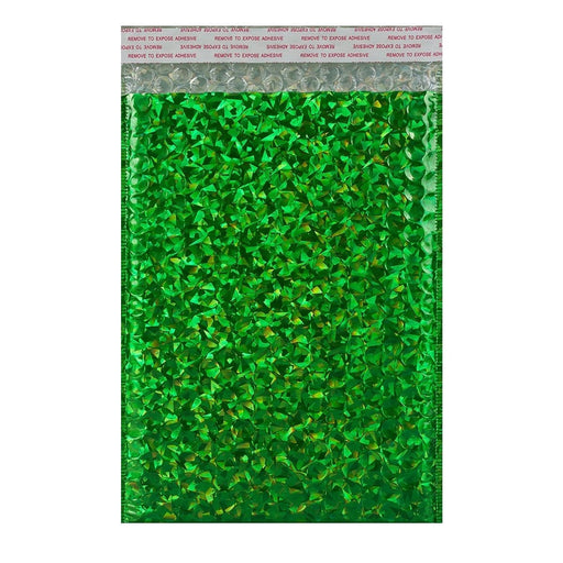 C5+ Green Holographic Bubble Bags [Qty 100] 180 x 250mm