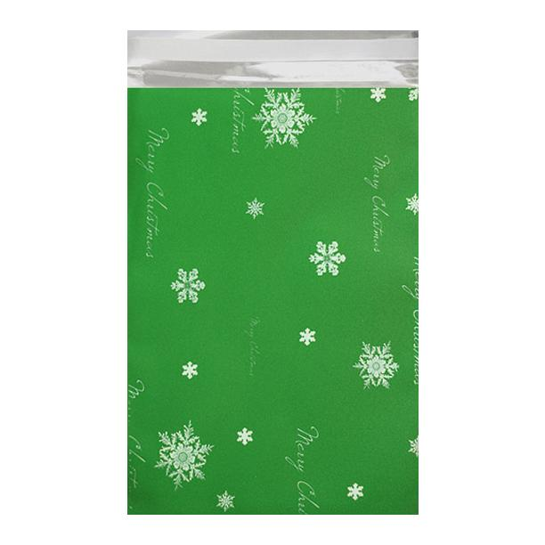 C5+ Green Christmas Foil Bags [Qty 250] 162 x 229mm (2131323224153)