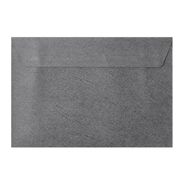 C5 Grey Textured 120gsm Peel & Seal Envelopes [Qty 250] 162 x 229mm (2131077333081)