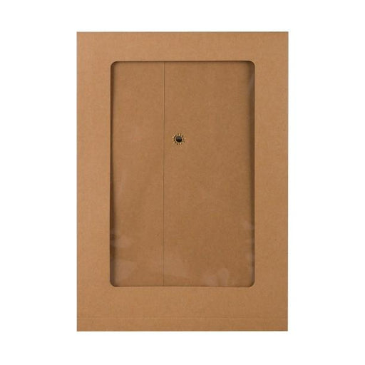 C5 Manilla String & Washer Gusset Window Envelopes [Qty 100] 229 x 162 x 25mm