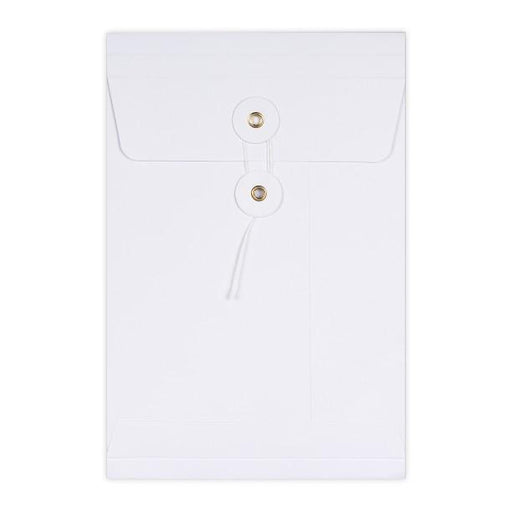 C5 White String & Washer Gusset Envelopes [Qty 100] 229 x 162 x 25mm
