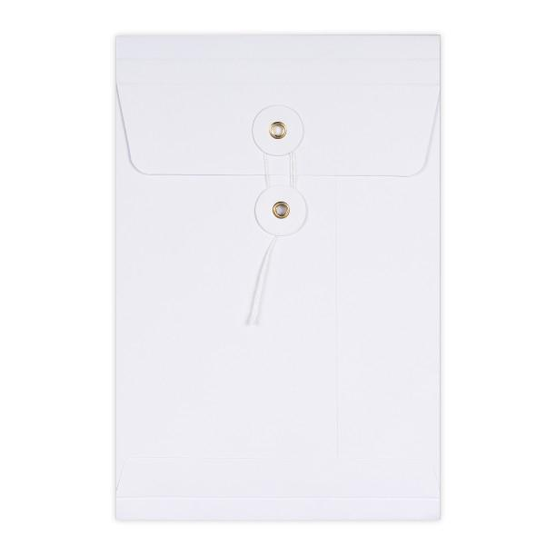 C5 White String & Washer Gusset Envelopes [Qty 100] 229 x 162 x 25mm (2131347112025)