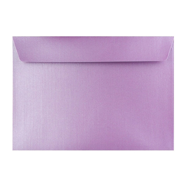C4 Pearlescent Lavender 120gsm Peel & Seal Envelopes [Qty 125] 324 x 229mm (2131301269593)