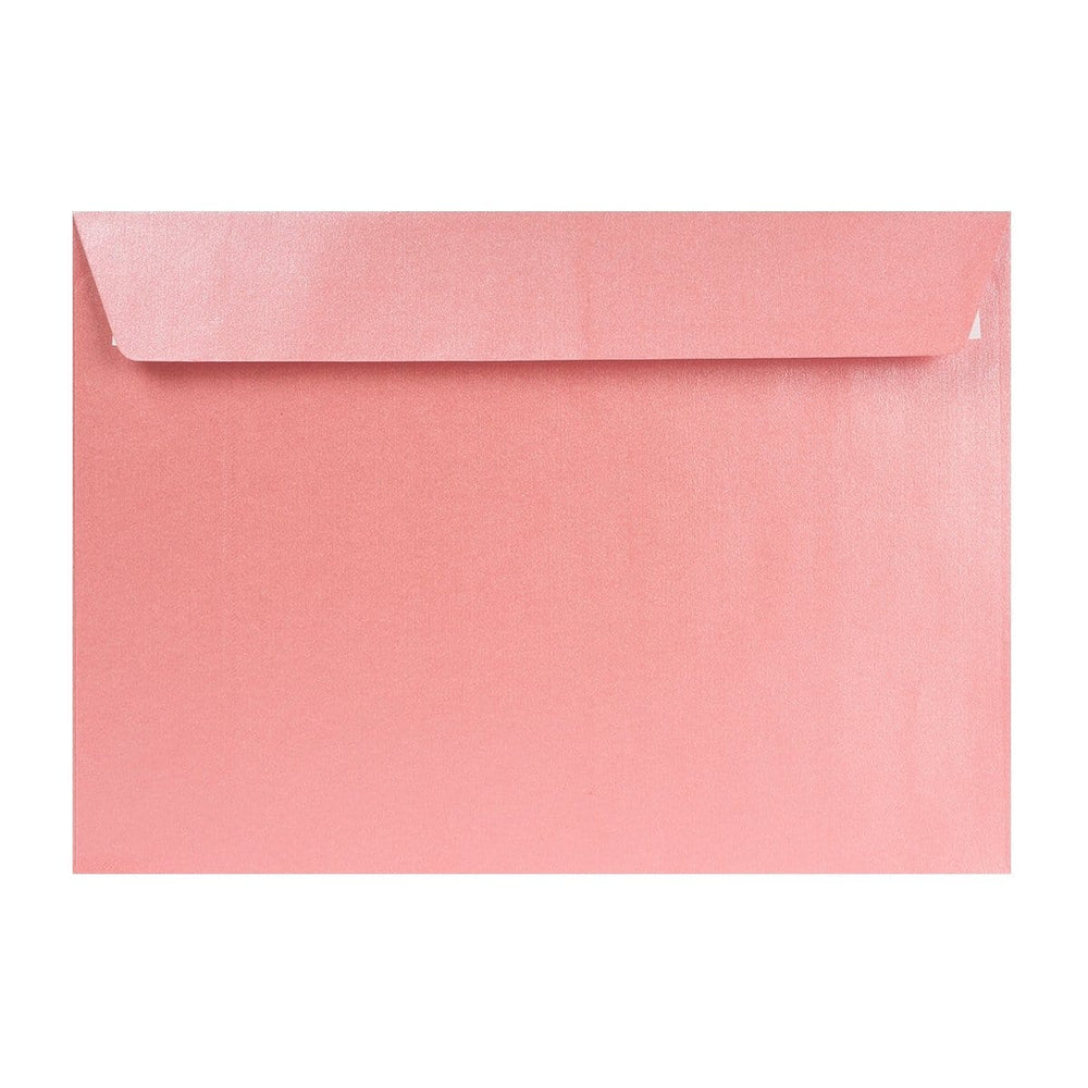 C4 Pearlescent Baby Pink 120gsm Peel & Seal Envelopes [Qty 125] 324 x 229mm