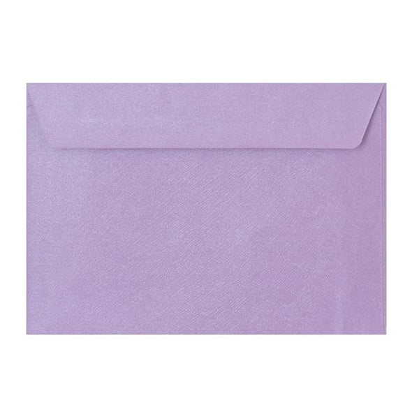 C5 Lilac Textured 120gsm Peel & Seal Envelopes [Qty 250] 162 x 229mm