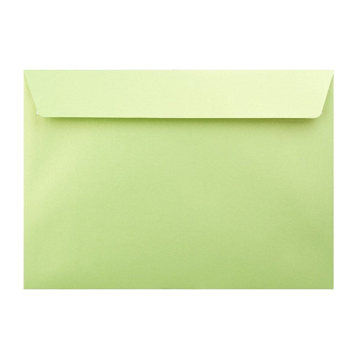 C4 Pearlescent Lime Green 120gsm Peel & Seal Envelopes [Qty 125] 324 x 229mm (2131300679769)