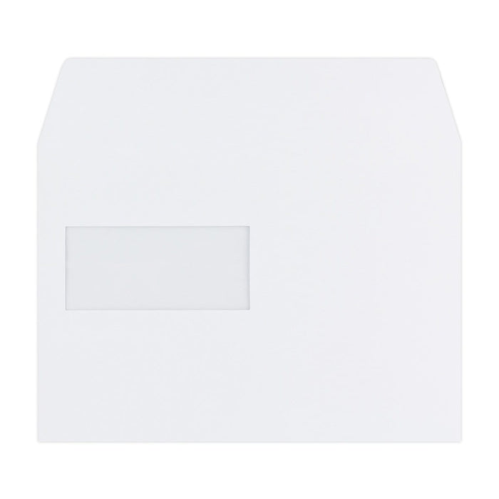 C5 White Luxury Wallet Window 180gsm Peel & Seal Envelopes [Qty 250] 162 x 229mm (2131065634905)