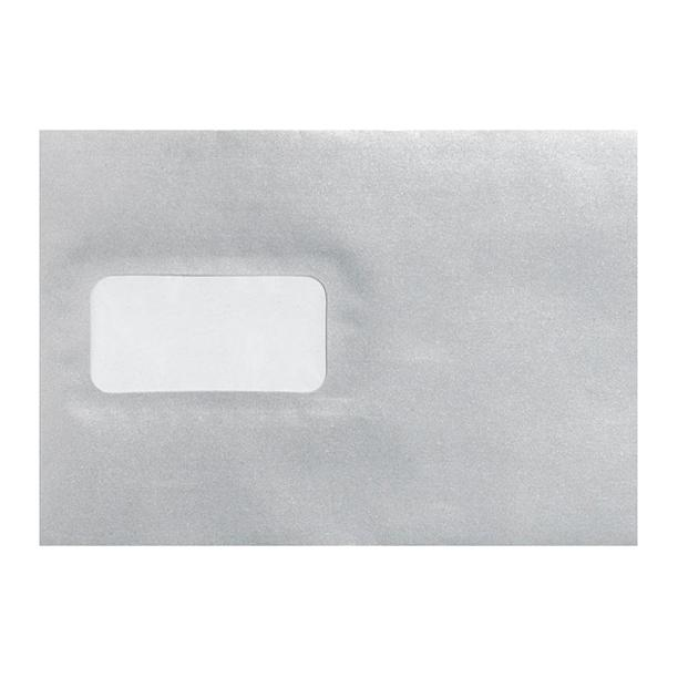 C5 Metallic Silver Window 100gsm Peel & Seal Envelopes [Qty 250] 162 x 229mm (2131039649881)