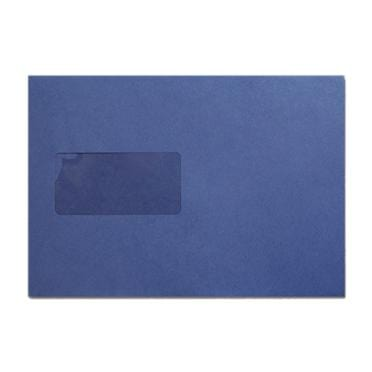 C5 Navy Blue Window Envelopes [Qty 500] 100gsm Peel & Seal 162 x 229mm (2131039060057)
