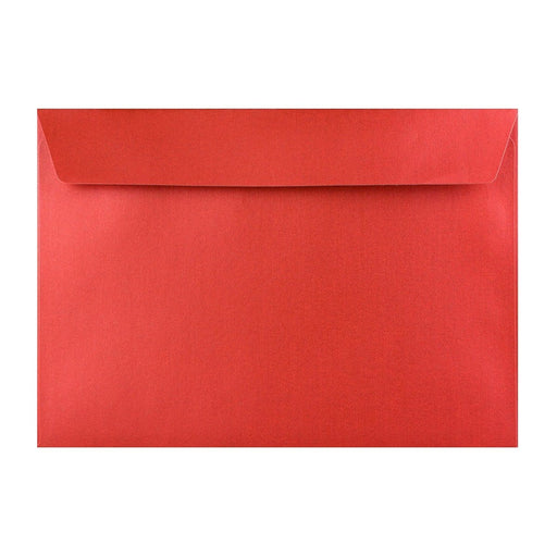 C4 Pearlescent Red 120gsm Peel & Seal Envelopes [Qty 125] 324 x 229mm