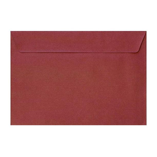 C5 Red Textured 120gsm Peel & Seal Envelopes [Qty 250] 162 x 229mm