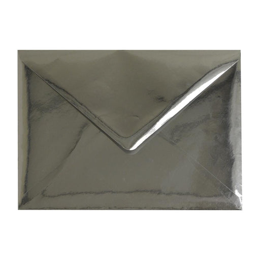 C5 Metallic Silver Mirror Finish 120gsm Gummed Envelopes [Qty 50] 162 x 229mm