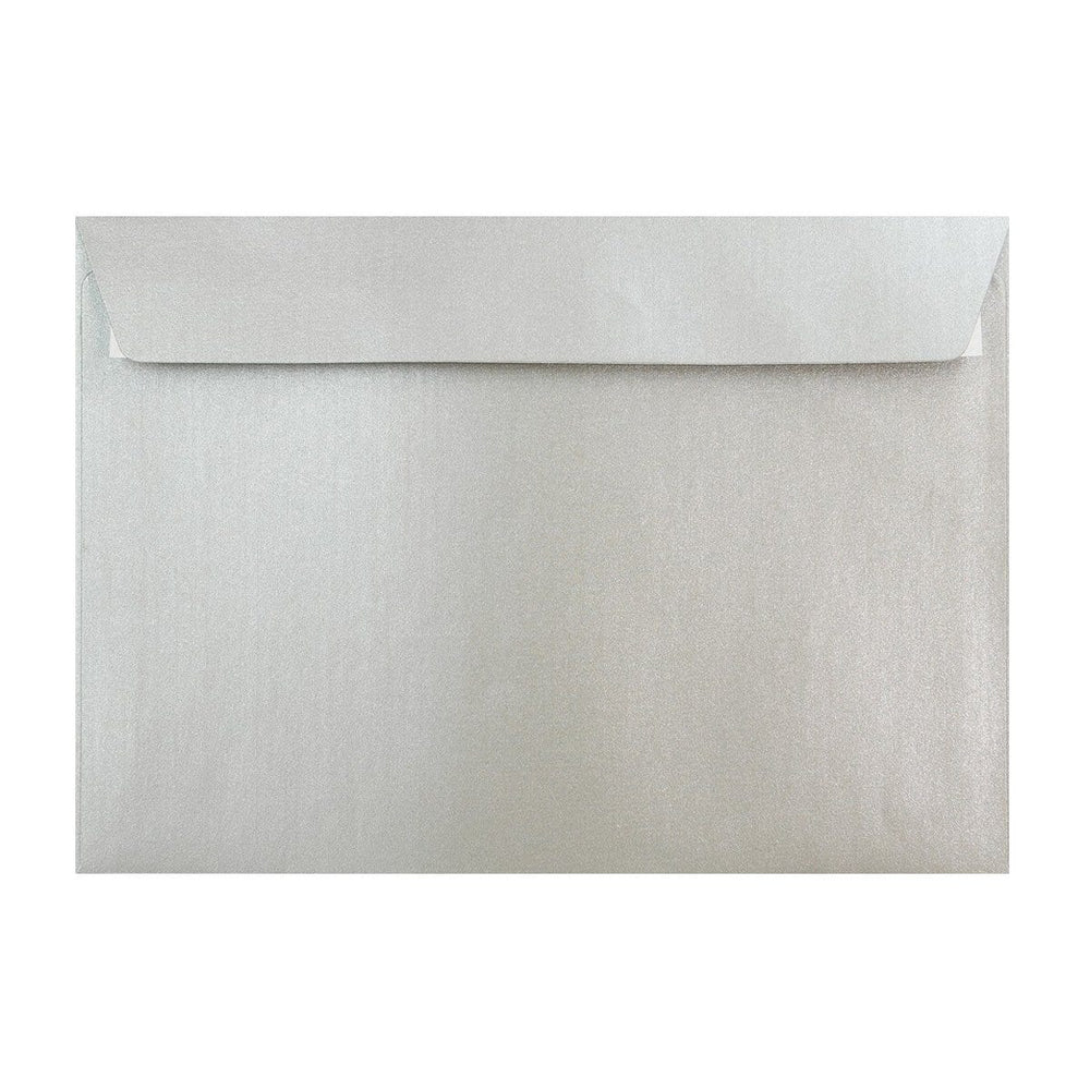 C4 Pearlescent Silver 120gsm Peel & Seal Envelopes [Qty 250] 324 x 229mm