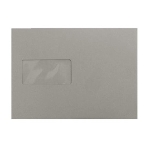 C5 Storm Grey Window 120gsm Peel & Seal Envelopes [Qty 250] 162 x 229mm