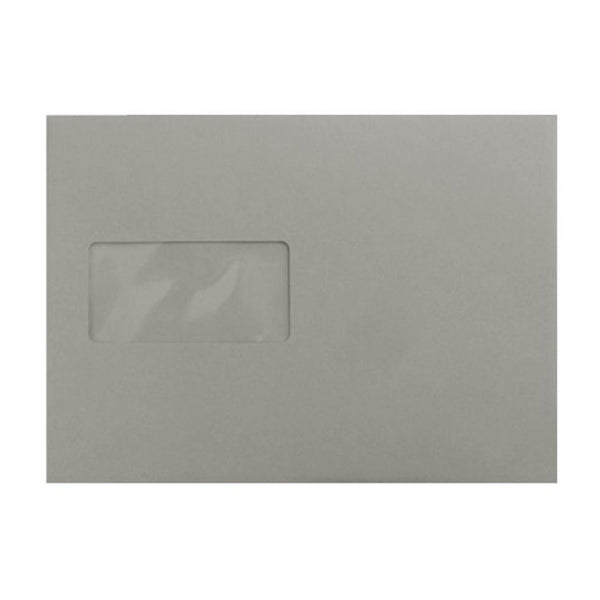 C5 Storm Grey Window 120gsm Peel & Seal Envelopes [Qty 250] 162 x 229mm (2131316277337)