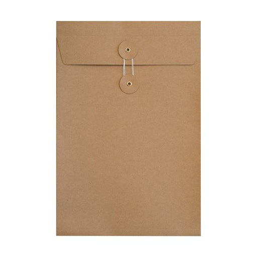 C5 Manilla Gusset String & Washer Envelopes [Qty 100] 229 x 162 x 25mm