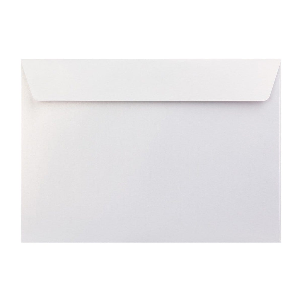 C4 Pearlescent Ice White 120gsm Peel & Seal Envelopes [Qty 125] 229 x 324mm (2131253297241)