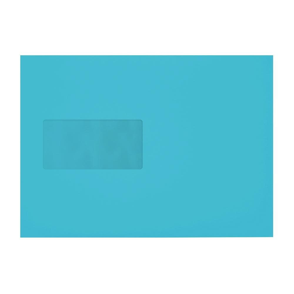 C5 Pacific Blue 120gsm Gummed Mailing Window Envelopes [Qty 500] 162 x 235mm (2131036242009)