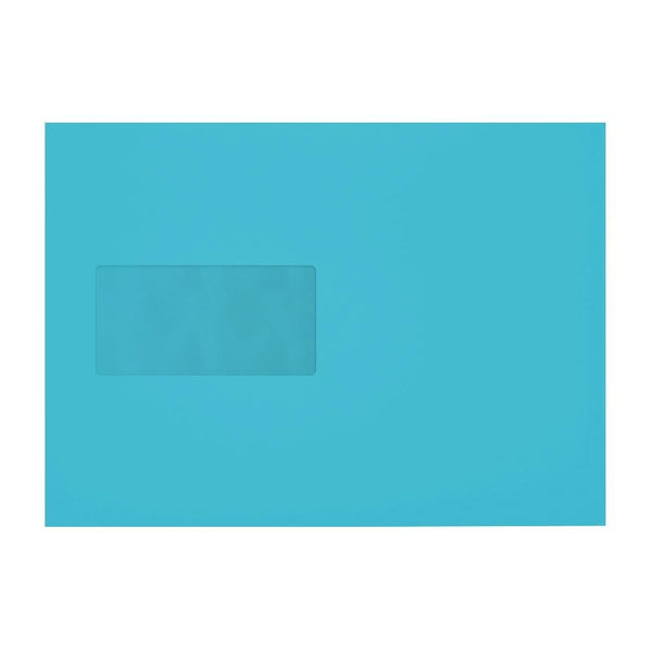 C5 Pacific Blue 120gsm Gummed Mailing Window Envelopes [Qty 500] 162 x 235mm