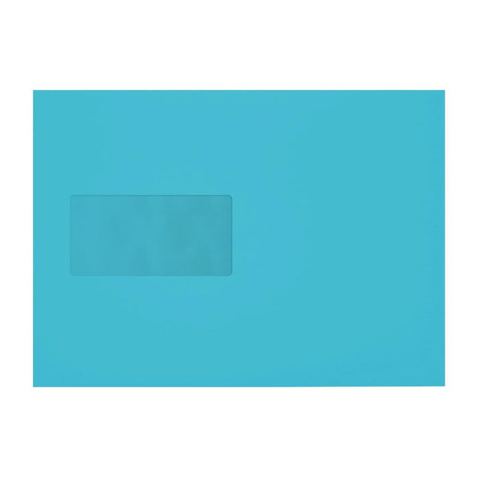 C5 Pacific Blue 120gsm Window Peel & Seal Envelopes [Qty 250] 162 x 229mm