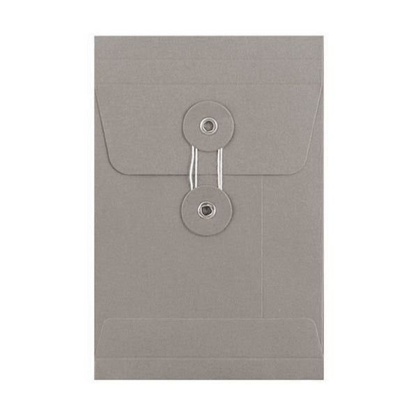 C5 Grey Gusset String & Washer Envelopes [Qty 100] 229 x 162 x 25mm