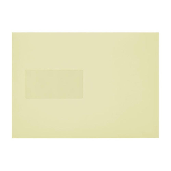 C5 Cream Window 110gsm Peel & Seal Envelopes [Qty 250] 162 x 229mm