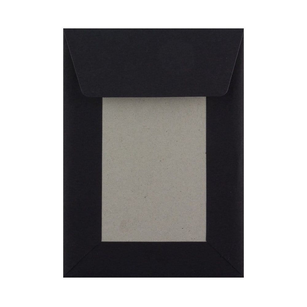 C6 Black Board Back Envelopes [Qty 250] 114 x 162mm