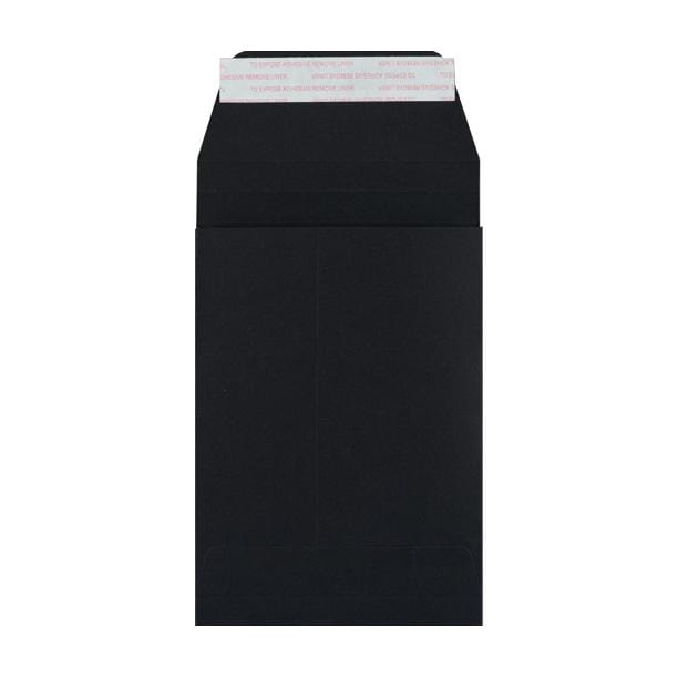 C6 Black Gusset 180gsm Envelopes [Qty 200] 162 x 114 x 25mm
