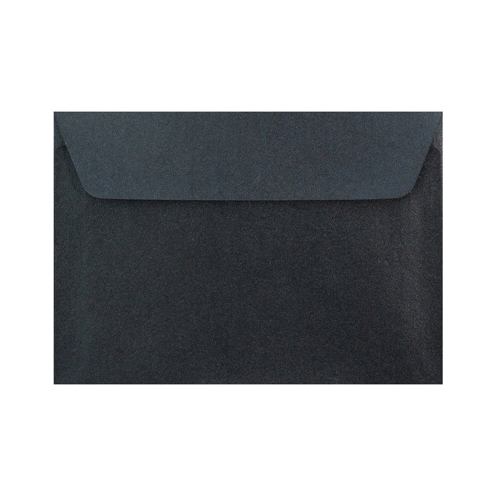 C6 Pearlescent Slate Black 120gsm Peel & Seal Envelopes [Qty 250] 114 x 162mm